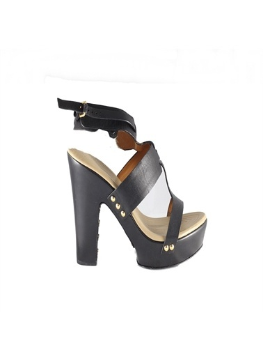 Givenchy Givenchy 1510127 Platform Topuklu Kadın Sandalet Siyah